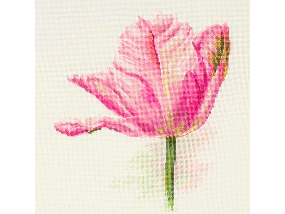 Купить Вышивка крестом, Набор для вышивания «Тюльпаны. Нежно-розовый», Алиса, 22x26 см, 2-42