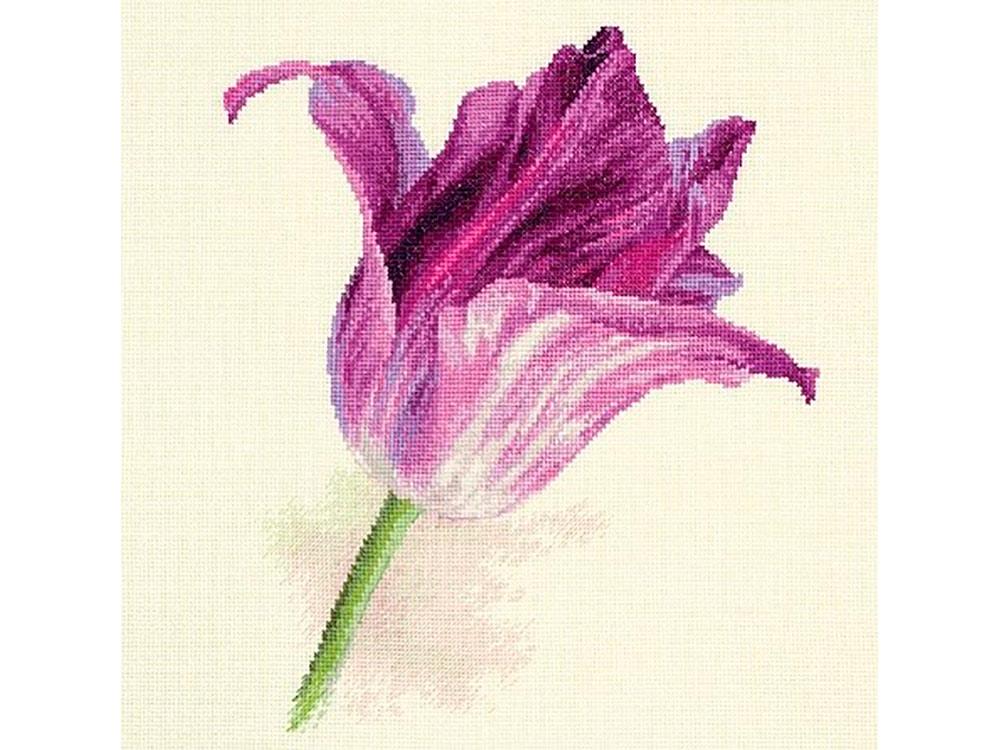 Купить Вышивка крестом, Набор для вышивания «Тюльпаны. Сиреневый бархат», Алиса, 22x26 см, 2-44