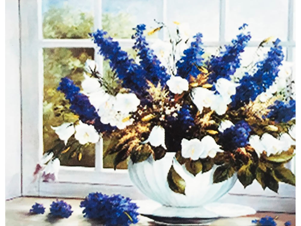 Купить Вышивка бисером, Набор вышивки бисером «Любимый букет с колокольчиками», Color KIT, 23x30 см, 564