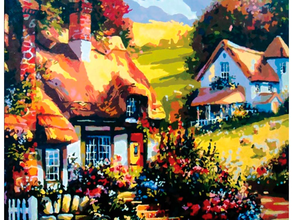Купить Вышивка бисером, Набор вышивки бисером «Дом на лужайке», Color KIT, 21x31 см, 568
