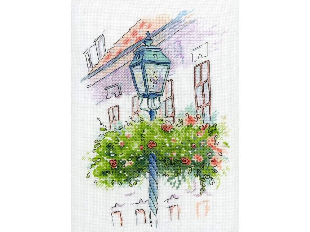 Купить Вышивка крестом, Набор для вышивания «На бульваре», МП-студия, 27x20 см, А-002