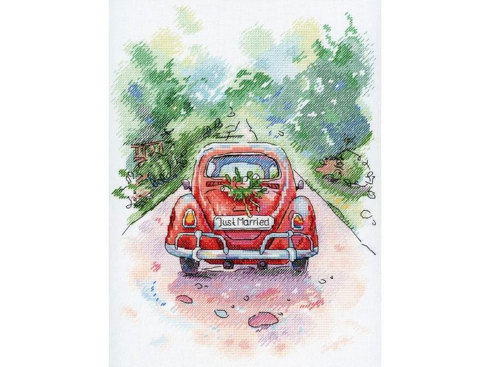 Купить Вышивка крестом, Набор для вышивания «Романтическое путешествие», МП-студия, 27x20 см, А-004