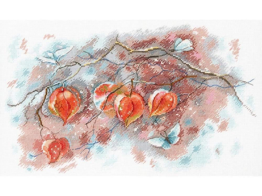 Купить Вышивка крестом, Набор для вышивания «Осенние фонарики», МП-студия, 21x35 см, А-016