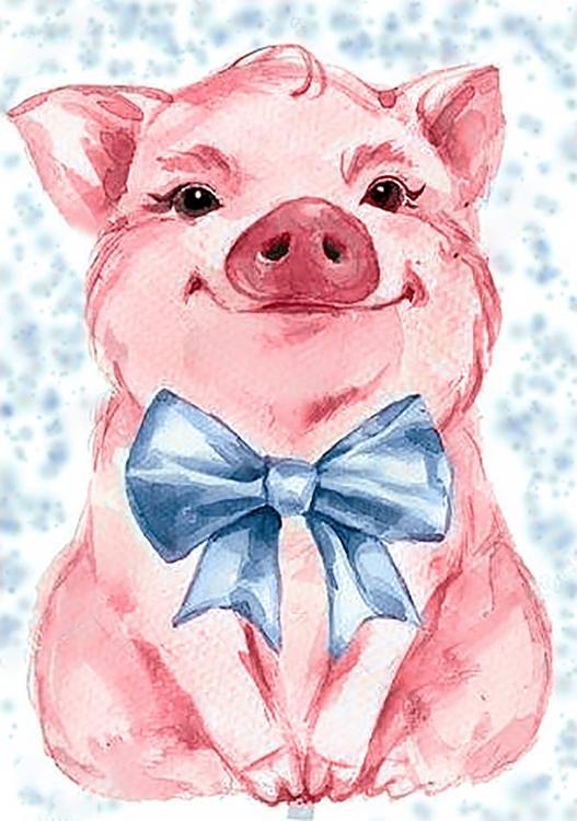 Купить Алмазная вышивка «Милая свинка», Гранни, 19x27 см, Ag 2289