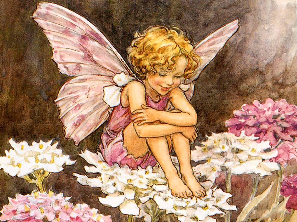 Купить Алмазная вышивка «Ангел на цветах», Алмазное Хобби, Россия, 40x50 см, Ah00661