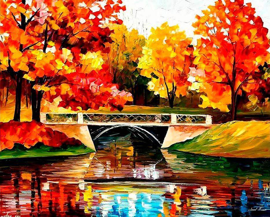 Купить Алмазная вышивка «Осенний пейзаж», Алмазное Хобби, Россия, 40x50 см, Ah03201