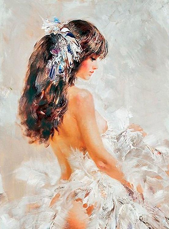 Купить Алмазная вышивка «Нежность», Алмазное Хобби, Россия, 40x60 см, Ah17191