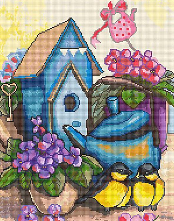 Купить Алмазная вышивка «Милый дом», Алмазное Хобби, Россия, 40x50 см, Ah5252