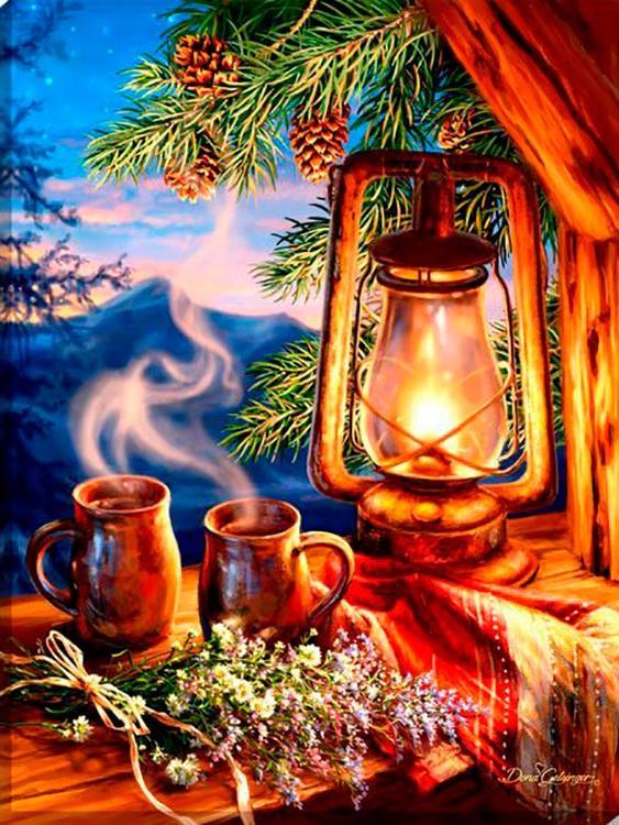 Купить Алмазная вышивка «Сказочный вечер», Алмазное Хобби, Россия, 30x40 см, Ah5253