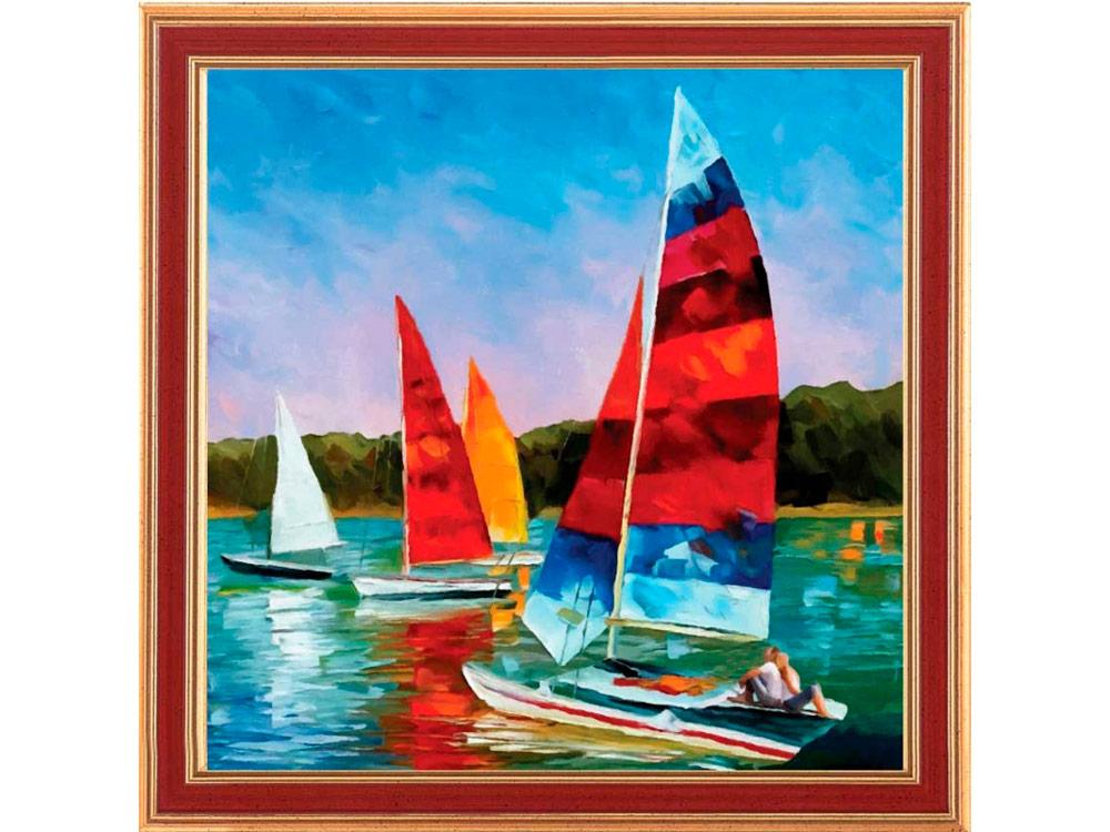 Купить Мозаика из пайеток «Один парус для двоих», Color KIT, 30x30 см, CMD013