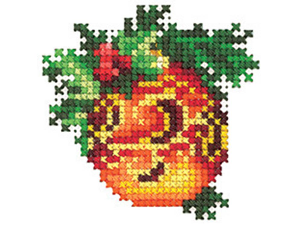 Купить Вышивка крестом, Набор для вышивания «Новогодние игрушки. Шар», Сделай своими руками, 6x6 см, Н-22