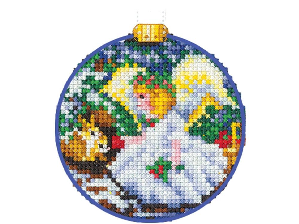 Купить Вышивка крестом, Набор для вышивания «Новогодние шары. Ангел», Сделай своими руками, 8x8 см, Н-26