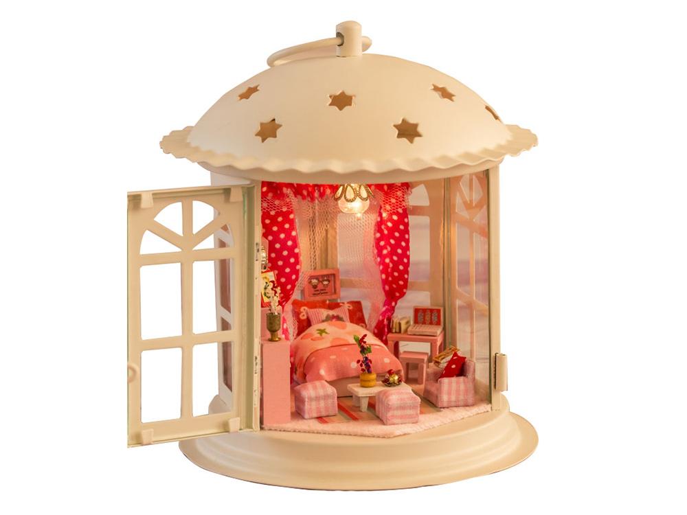 Купить Набор для создания миниатюры (румбокс) «Фонарик Розовые сны», Hobby Day, 13x13x16 см, I001