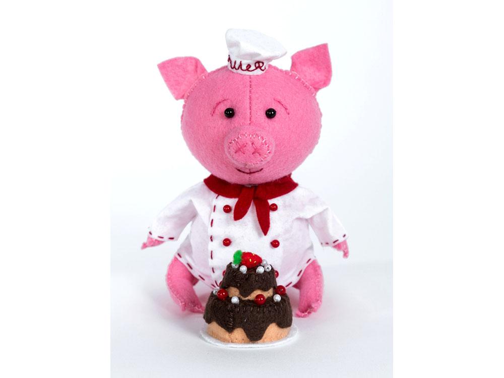 Купить Набор для шитья «Поросенок-пекарь», Перловка, высота 15, 5 см, ПФЗД-1011