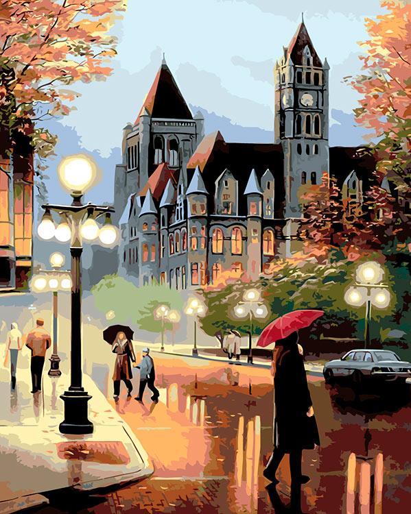 баклажку в городе дождь открытки странице
