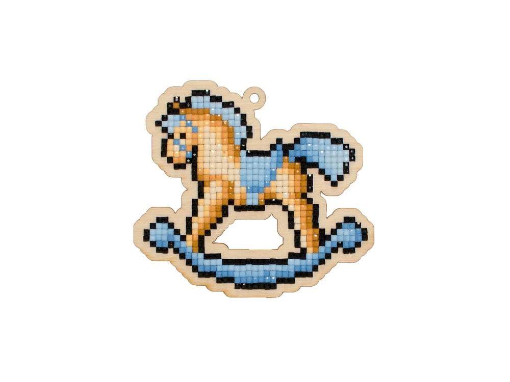 Купить Подвеска «Лошадка-качалка», Гранни Wood, 10, 1x9, 1 см, W0250