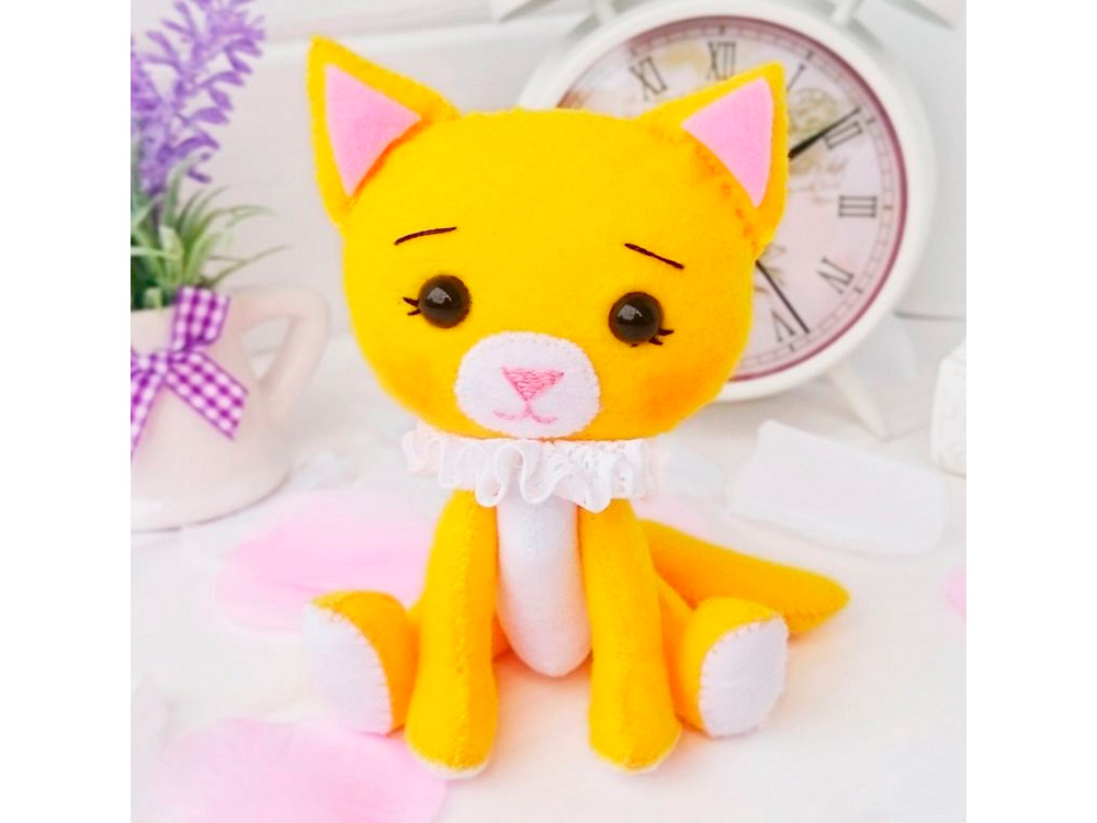 Набор для шитья игрушки «Котенок Апельсинка», ТУТТИ, высота 13 см, 05-33  - купить со скидкой