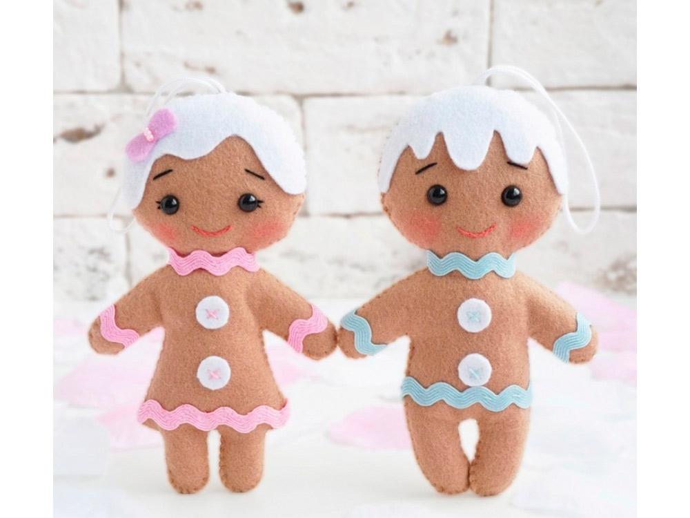 Набор для шитья игрушки «Веселые печеньки», ТУТТИ, высота 13 см, 05-34  - купить со скидкой