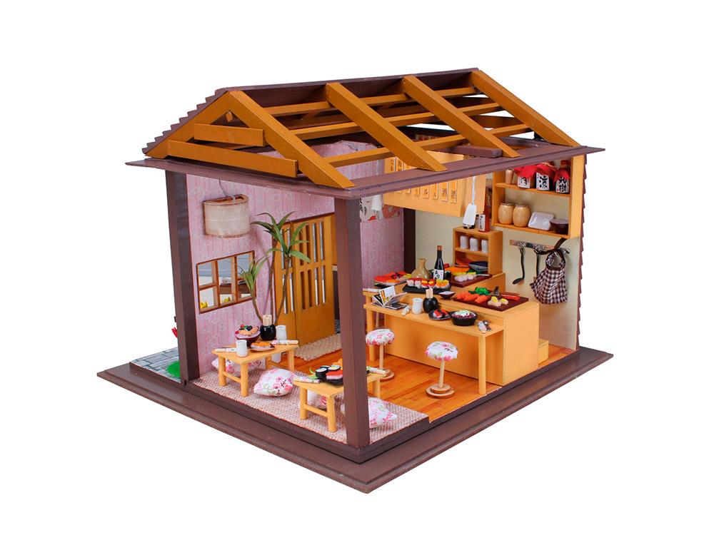 Купить Набор для создания миниатюры (румбокс) «Суши Бар SAKURA», Hobby Day, 27x27x22 см, 13827