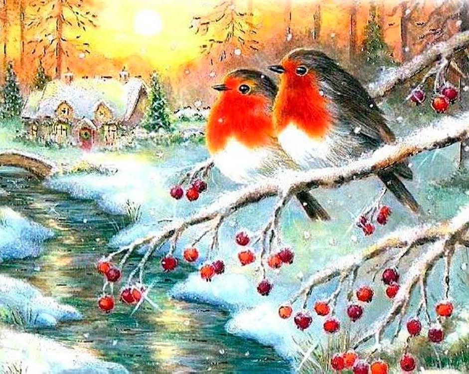 Картинки днем, открытки на новый год снегири