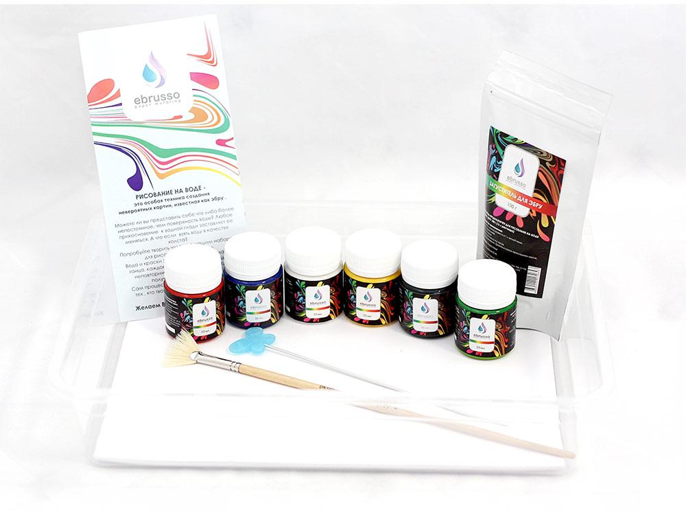 Набор для студии эбру 6 цветов, Ebrusso EBR19
