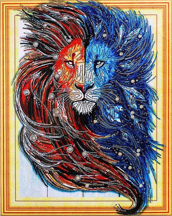 Алмазная вышивка 3D «Царь природы» Color