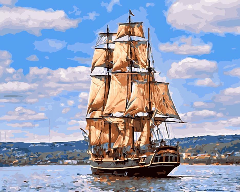 Купить Картина по номерам «Морской пейзаж», Paintboy (Premium), Китай, GX26061