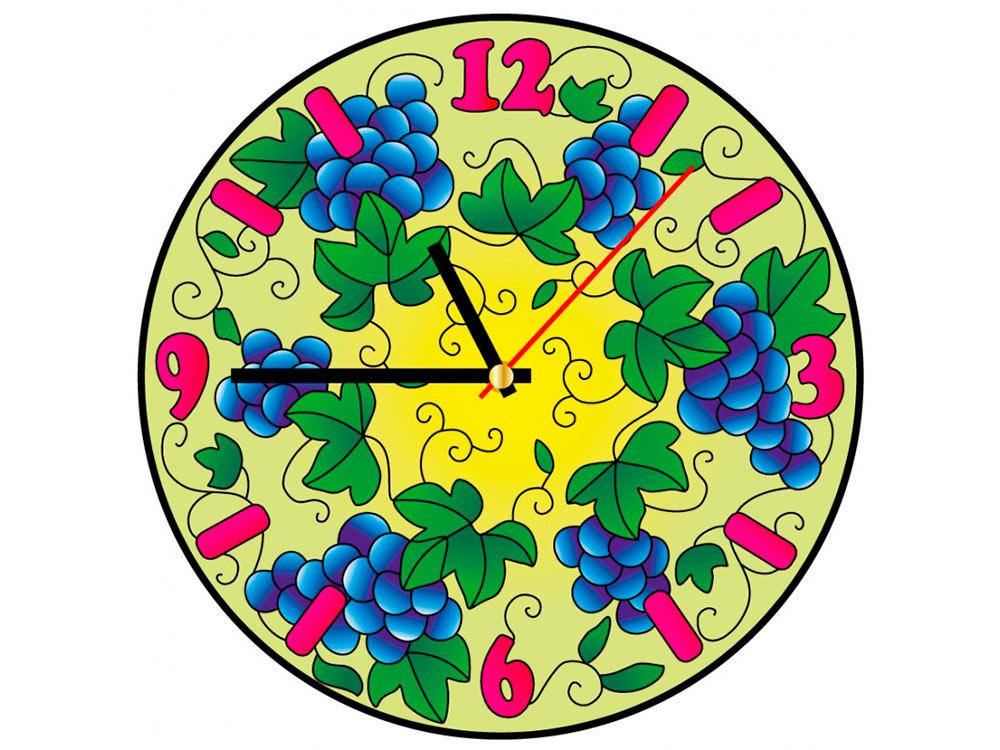 Витраж-раскраска «Часы. Виноград» HV005 Color KIT диаметр ...
