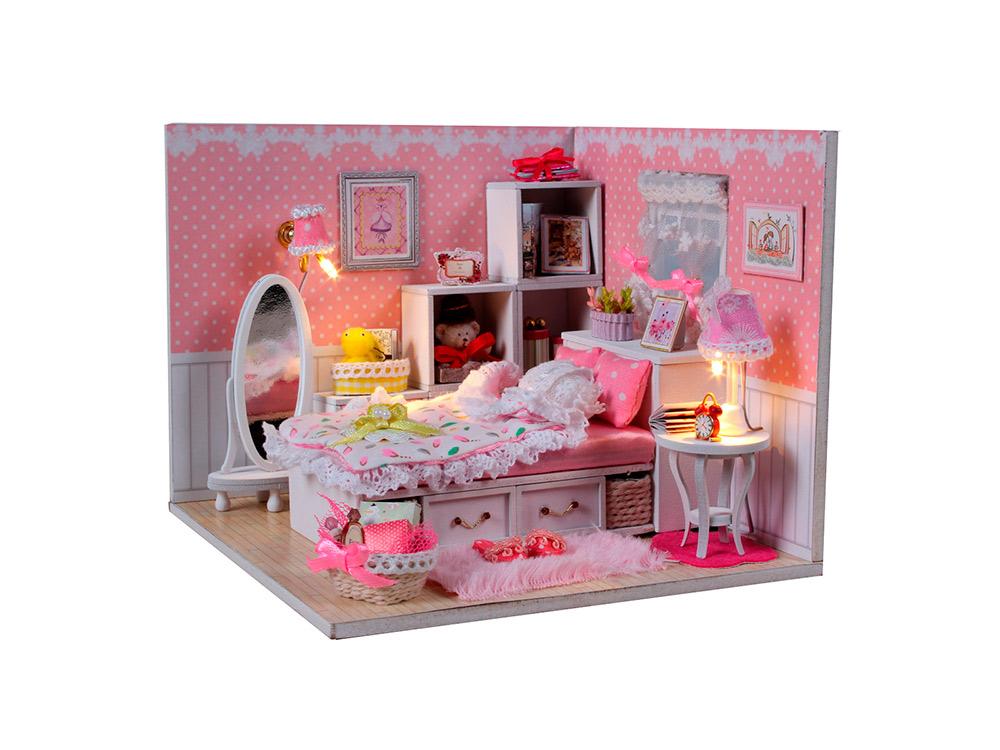 Купить Набор для создания миниатюры (румбокс) «Комната маленькой принцессы», Hobby Day, 16x16x14 см, M001