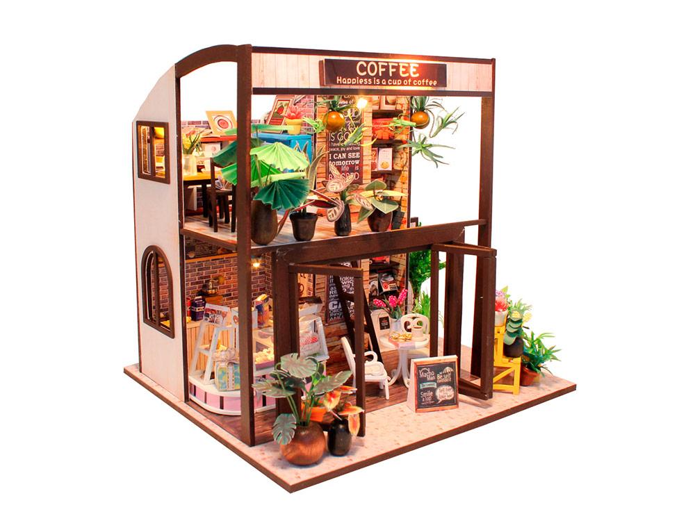Купить Набор для создания миниатюры (румбокс) «Coffee House», Hobby Day, 18x20x20 см, M027