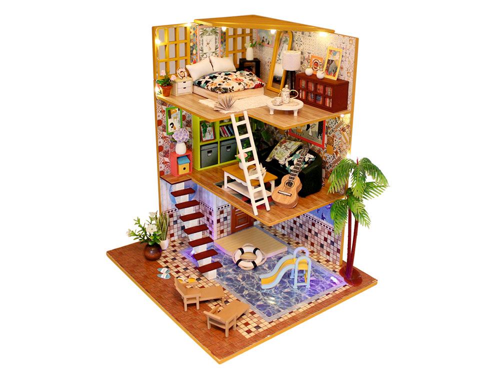 Купить Набор для создания миниатюры (румбокс) «Таунхаус», Hobby Day, 20x21x25 см, M029