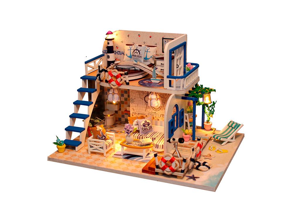 Купить Набор для создания миниатюры (румбокс) «Домик у моря», Hobby Day, 19x15x13 см, M032