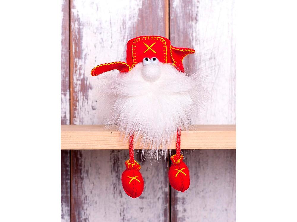 Купить Набор для шитья «Гном в ушанке», Перловка, высота 10см, ПФГ-1554