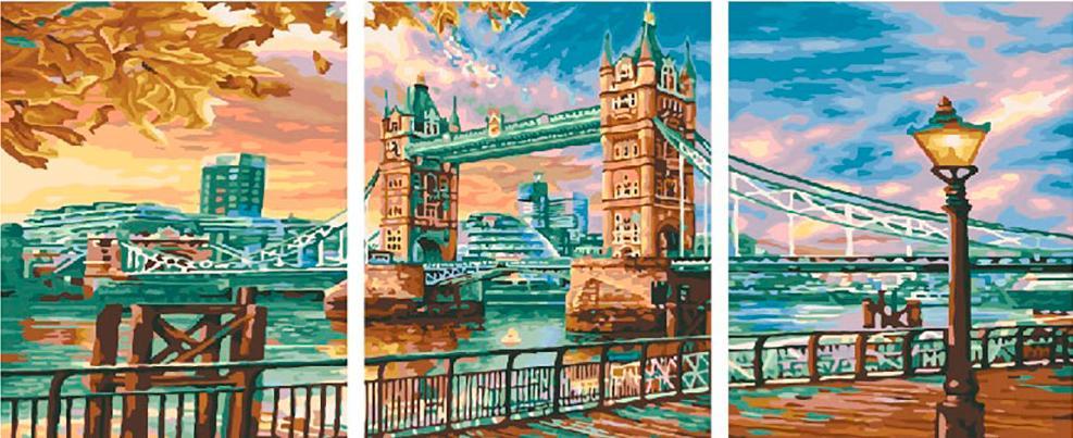 Купить Картина по номерам «Набережная Темзы», Paintboy (Premium), Китай, 3 шт. 40x50 см, PX5235