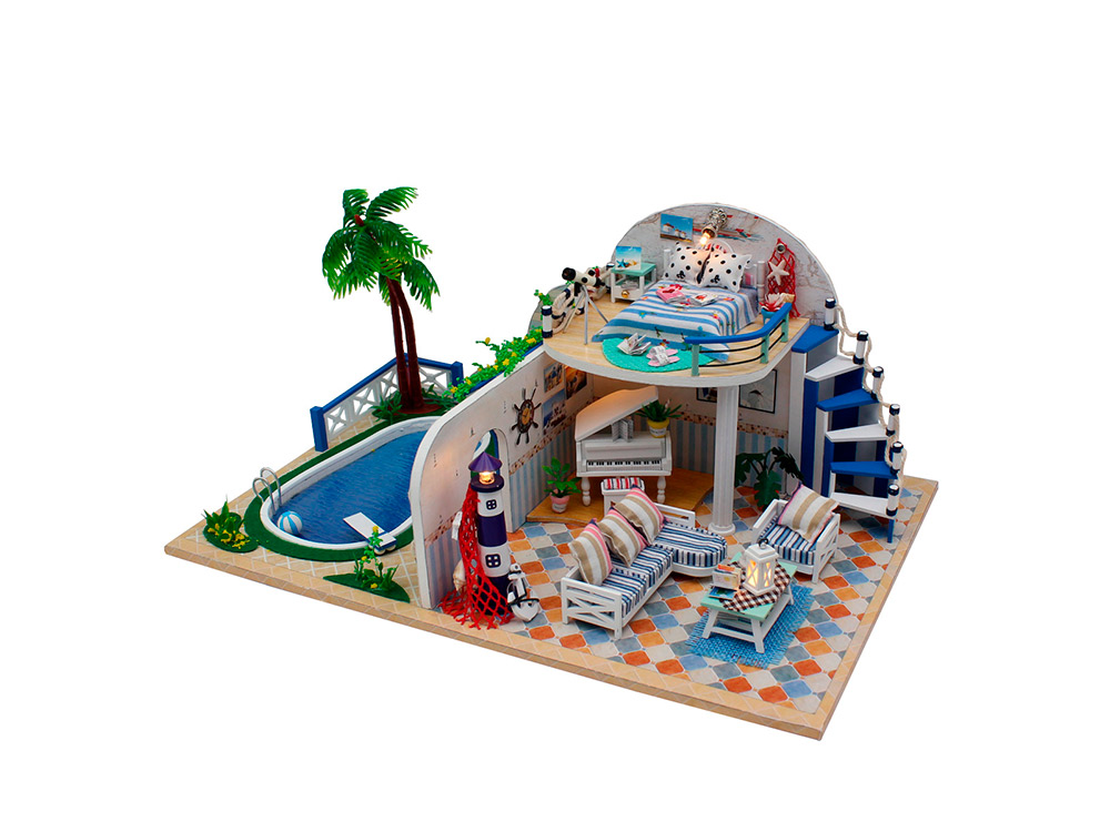 Купить Набор для создания миниатюры (румбокс) «Вилла», Hobby Day, 32x21x15 см, X003