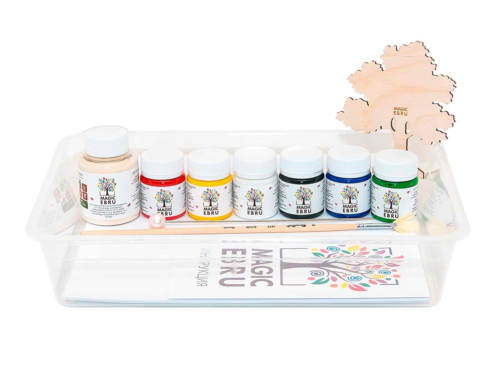Купить Набор для эбру «StandArt» 6 цветов, Magic EBRU, 00042