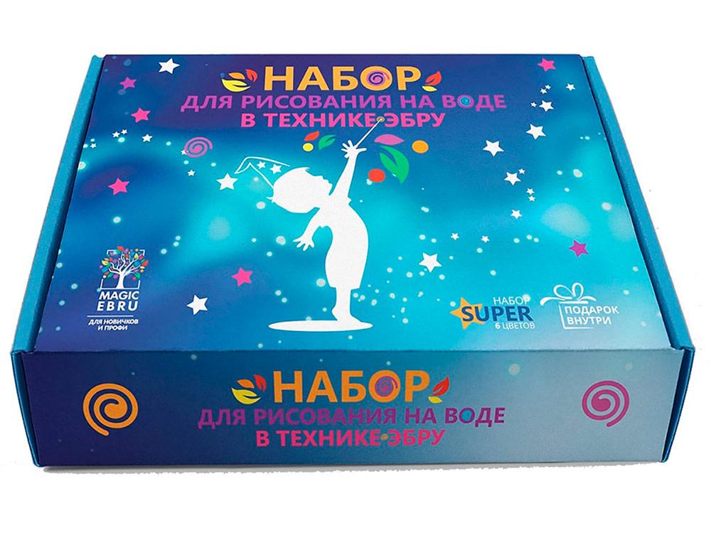 Купить Набор для эбру «SUPER» 6 цветов, Magic EBRU, 00044