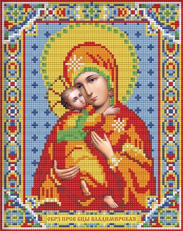 икона богородицы алмазная мозаика