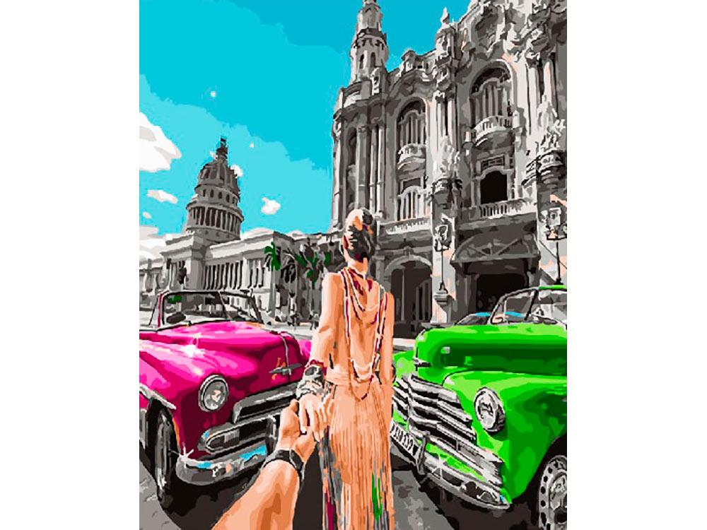Купить Картина по номерам «Следуй за мной. Куба», Paintboy (Premium), Китай, GX26507
