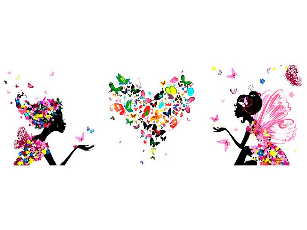 Купить Картина по номерам «Воздушный поцелуй», Paintboy (Premium), 3 шт. 50x50 см, P065