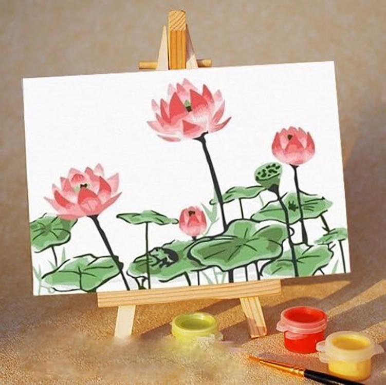 Купить Картина по номерам «Розовые цветы», Цветной (Standart), Россия, PA067_Z