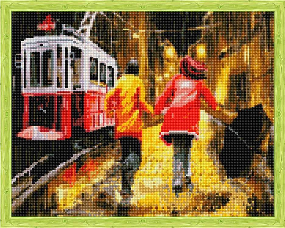 Купить Алмазная вышивка «Последний трамвай», Цветной, 40x50 см, QA201872