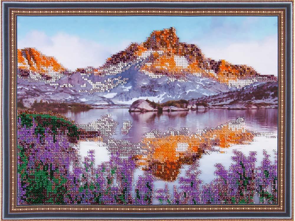 Купить Вышивка бисером, Набор вышивки бисером «Лавандовый пейзаж», Color KIT, 30x40 см, VS019