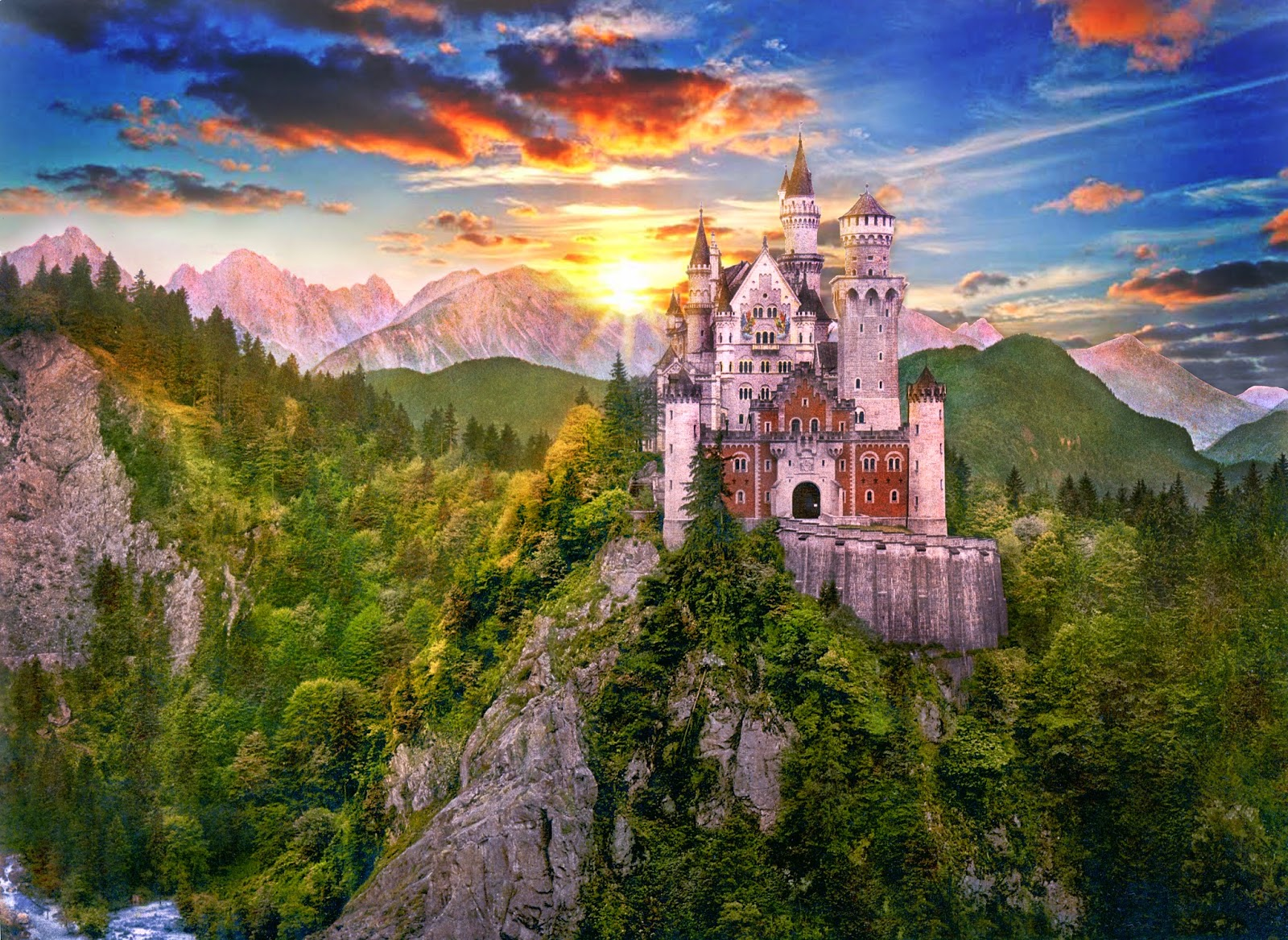 картинки огромных замков какими оттенками
