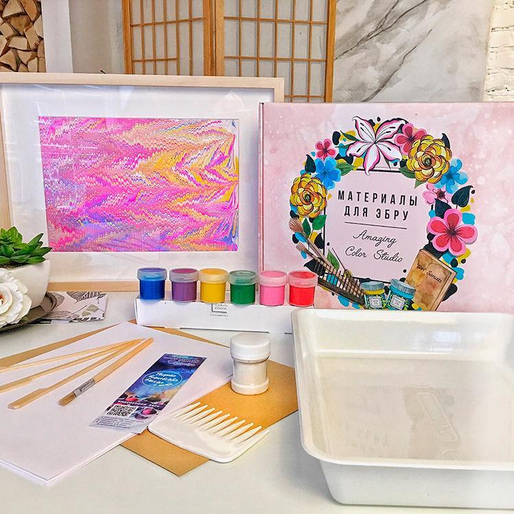 Купить Набор для эбру «Знакомство» 6 цветов, Amazing Color, znakomstvo
