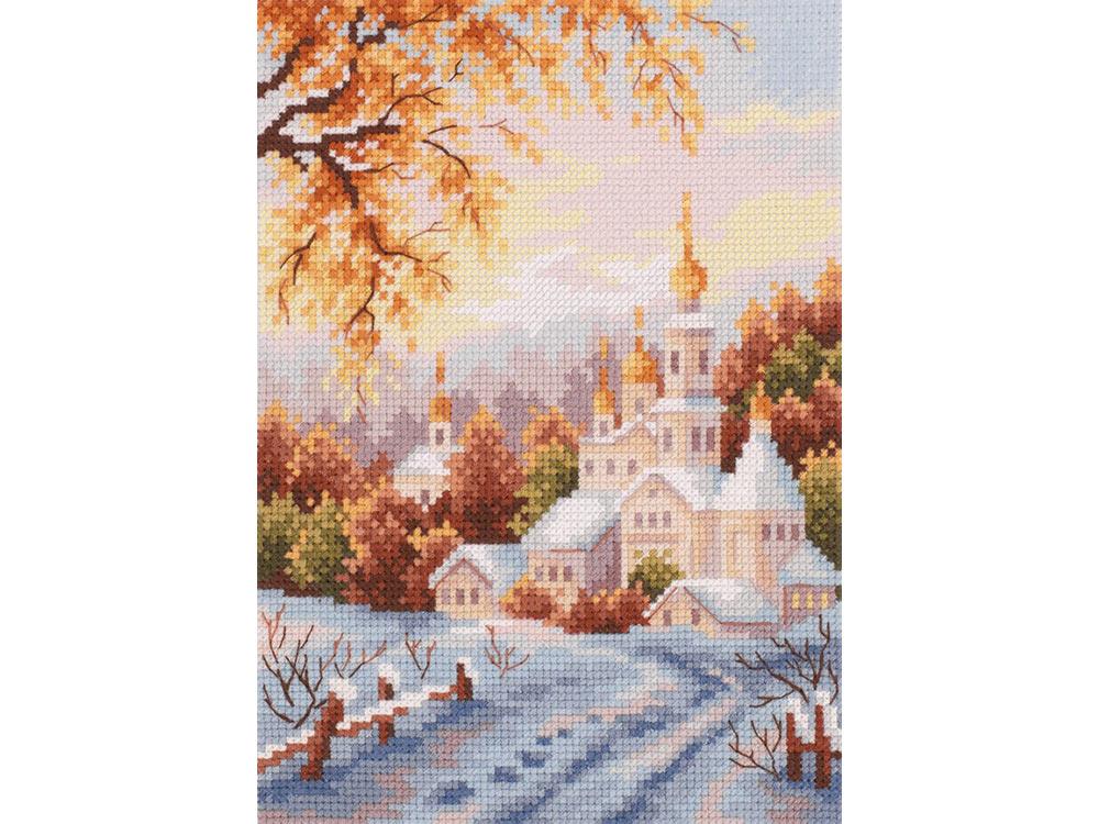 Купить Вышивка крестом, Набор для вышивания «Снежная обитель», Чудесная игла, 15x20 см, 110-061