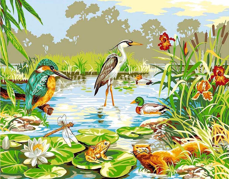 Купить Картина по номерам «На болоте», Paintboy (Premium), Китай, EX6070
