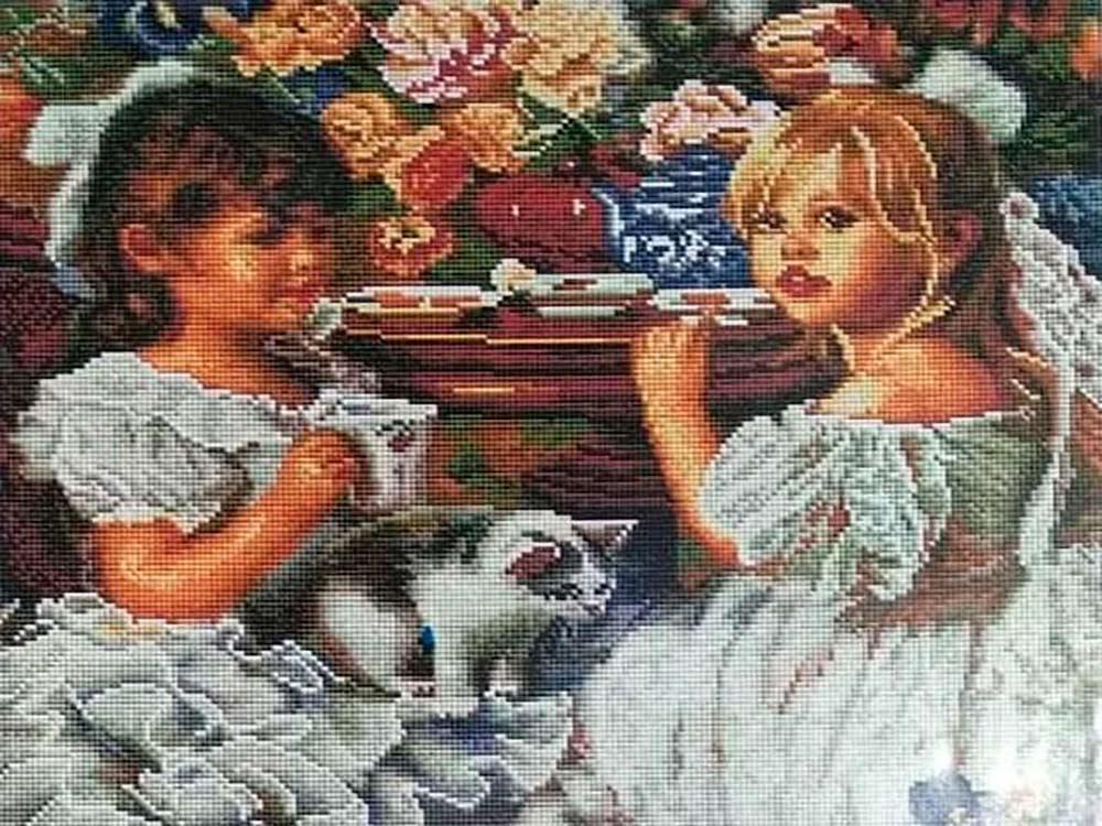 Купить Алмазная вышивка «Чаепитие», Painting Diamond, 40x50 см, GF2818