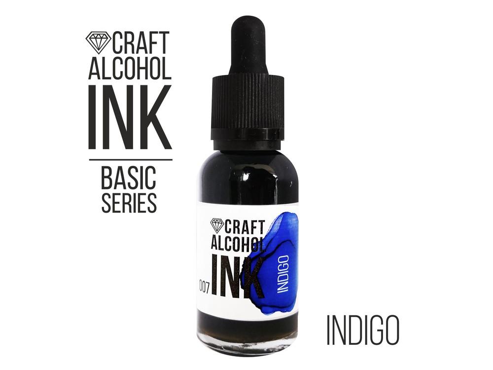 Купить Алкогольные чернила индиго (Indigo) 20 мл, Craft Alcohol INK, Craftsmen.store, CAI-012
