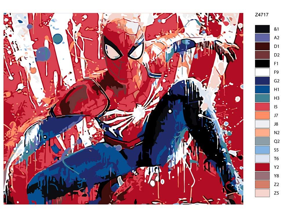 Картина по номерам «Человек-паук» Z-Z4717 Живопись по ...